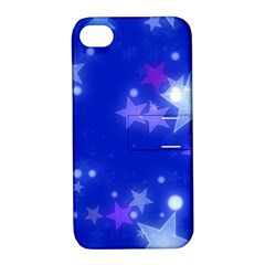 Star Bokeh Background Scrapbook Apple iPhone 4/4S Hardshell Case with Stand