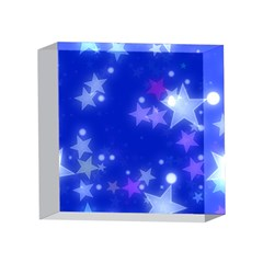 Star Bokeh Background Scrapbook 4 x 4  Acrylic Photo Blocks