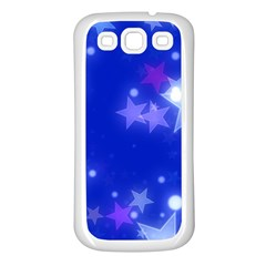 Star Bokeh Background Scrapbook Samsung Galaxy S3 Back Case (White)