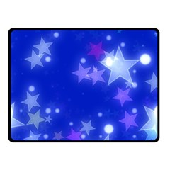 Star Bokeh Background Scrapbook Double Sided Fleece Blanket (Small)