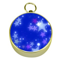Star Bokeh Background Scrapbook Gold Compasses