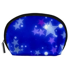 Star Bokeh Background Scrapbook Accessory Pouches (Large)