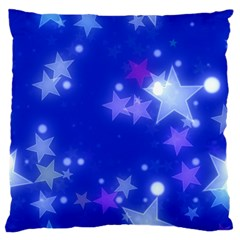 Star Bokeh Background Scrapbook Large Flano Cushion Case (Two Sides)