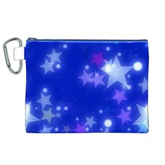 Star Bokeh Background Scrapbook Canvas Cosmetic Bag (XL)