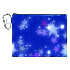 Star Bokeh Background Scrapbook Canvas Cosmetic Bag (XXL)