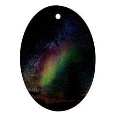 Starry Sky Galaxy Star Milky Way Ornament (Oval)