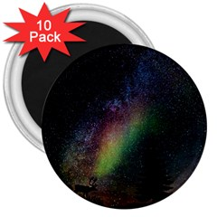 Starry Sky Galaxy Star Milky Way 3  Magnets (10 pack)