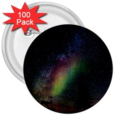 Starry Sky Galaxy Star Milky Way 3  Buttons (100 pack)