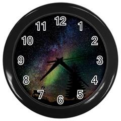 Starry Sky Galaxy Star Milky Way Wall Clocks (Black)