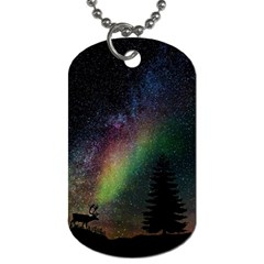 Starry Sky Galaxy Star Milky Way Dog Tag (Two Sides)