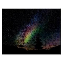 Starry Sky Galaxy Star Milky Way Rectangular Jigsaw Puzzl