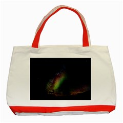 Starry Sky Galaxy Star Milky Way Classic Tote Bag (Red)