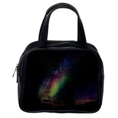Starry Sky Galaxy Star Milky Way Classic Handbags (One Side)