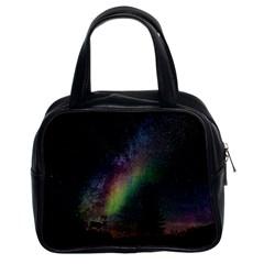Starry Sky Galaxy Star Milky Way Classic Handbags (2 Sides)