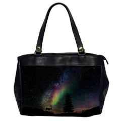 Starry Sky Galaxy Star Milky Way Office Handbags (2 Sides)