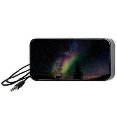 Starry Sky Galaxy Star Milky Way Portable Speaker (Black)