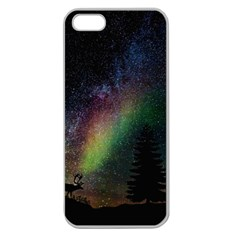 Starry Sky Galaxy Star Milky Way Apple Seamless iPhone 5 Case (Clear)