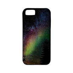 Starry Sky Galaxy Star Milky Way Apple iPhone 5 Classic Hardshell Case (PC+Silicone)