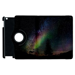 Starry Sky Galaxy Star Milky Way Apple iPad 2 Flip 360 Case