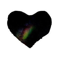 Starry Sky Galaxy Star Milky Way Standard 16  Premium Heart Shape Cushions