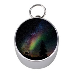 Starry Sky Galaxy Star Milky Way Mini Silver Compasses