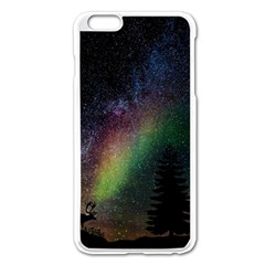 Starry Sky Galaxy Star Milky Way Apple iPhone 6 Plus/6S Plus Enamel White Case