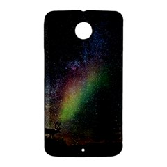 Starry Sky Galaxy Star Milky Way Nexus 6 Case (White)