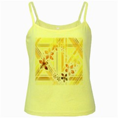 Swirl Flower Curlicue Greeting Card Yellow Spaghetti Tank