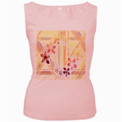Swirl Flower Curlicue Greeting Card Women s Pink Tank Top