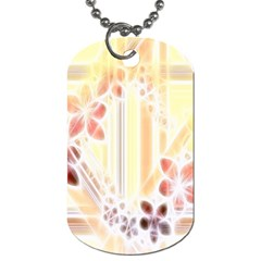 Swirl Flower Curlicue Greeting Card Dog Tag (Two Sides)