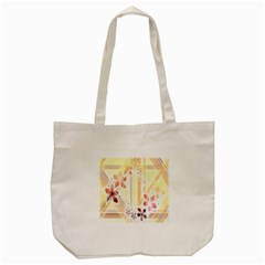 Swirl Flower Curlicue Greeting Card Tote Bag (Cream)
