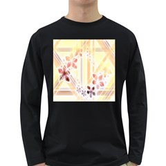 Swirl Flower Curlicue Greeting Card Long Sleeve Dark T-Shirts