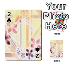 Swirl Flower Curlicue Greeting Card Playing Cards 54 Designs