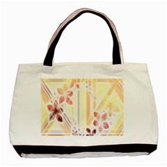 Swirl Flower Curlicue Greeting Card Basic Tote Bag (Two Sides)