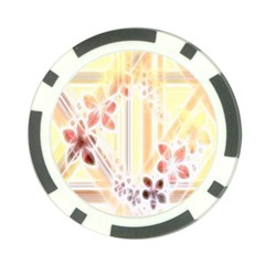 Swirl Flower Curlicue Greeting Card Poker Chip Card Guards (10 pack)