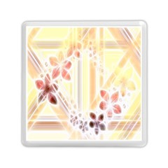 Swirl Flower Curlicue Greeting Card Memory Card Reader (Square)