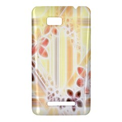 Swirl Flower Curlicue Greeting Card HTC One SU T528W Hardshell Case