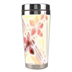 Swirl Flower Curlicue Greeting Card Stainless Steel Travel Tumblers