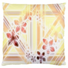 Swirl Flower Curlicue Greeting Card Large Flano Cushion Case (One Side)