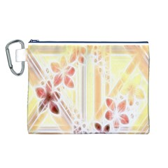 Swirl Flower Curlicue Greeting Card Canvas Cosmetic Bag (L)