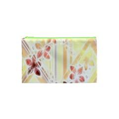 Swirl Flower Curlicue Greeting Card Cosmetic Bag (XS)