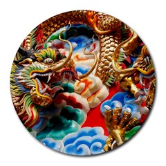 Thailand Bangkok Temple Roof Asia Round Mousepads