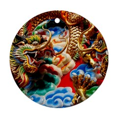 Thailand Bangkok Temple Roof Asia Ornament (Round)
