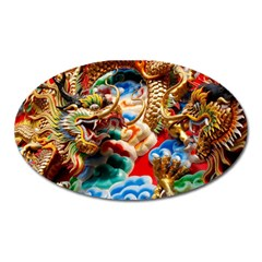 Thailand Bangkok Temple Roof Asia Oval Magnet