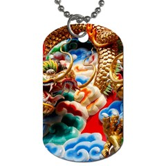 Thailand Bangkok Temple Roof Asia Dog Tag (One Side)