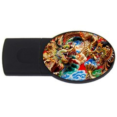 Thailand Bangkok Temple Roof Asia USB Flash Drive Oval (2 GB)