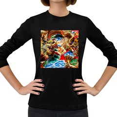 Thailand Bangkok Temple Roof Asia Women s Long Sleeve Dark T-Shirts