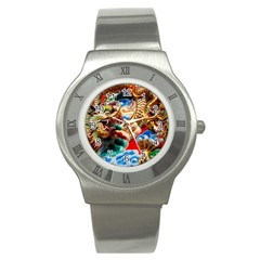 Thailand Bangkok Temple Roof Asia Stainless Steel Watch