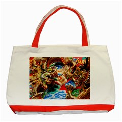 Thailand Bangkok Temple Roof Asia Classic Tote Bag (Red)