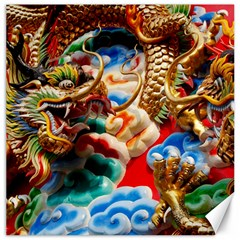 Thailand Bangkok Temple Roof Asia Canvas 20  x 20